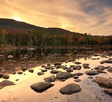 Sunset over Lily Pond, White Mountain National Forest, New Hampshire by DArthurBrown