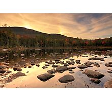Sunset over Lily Pond, White Mountain National Forest, New Hampshire Photographic Print