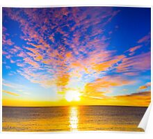 Beautiful sunset over the ocean Poster