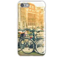 Amsterdam canal and bicycles iPhone Case/Skin