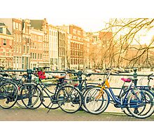 Amsterdam canal and bicycles Photographic Print