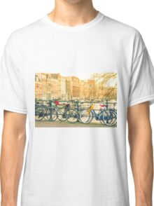 Amsterdam canal and bicycles Classic T-Shirt