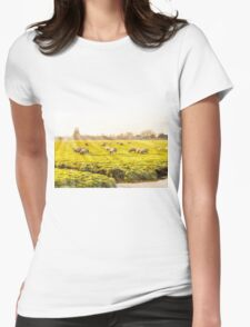 Rural landscape in Holland Womens Fitted T-Shirt