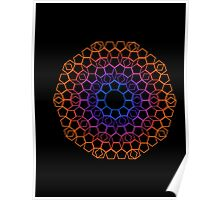color lace on black Poster