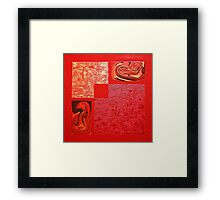 fire and dragons Framed Print