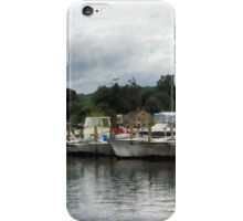 Boats On A Cloudy Day Essex CT iPhone Case/Skin