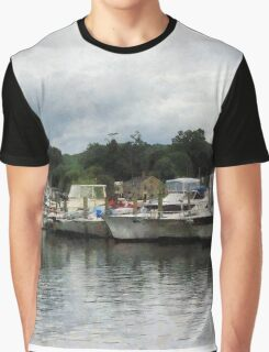 Boats On A Cloudy Day Essex CT Graphic T-Shirt