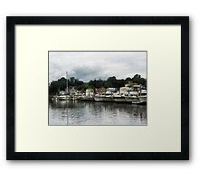 Boats On A Cloudy Day Essex CT Framed Print