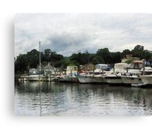 Boats On A Cloudy Day Essex CT Canvas Print