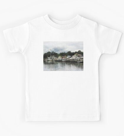 Boats On A Cloudy Day Essex CT Kids Tee