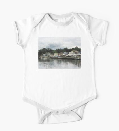 Boats On A Cloudy Day Essex CT One Piece - Short Sleeve
