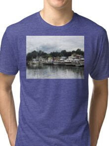 Boats On A Cloudy Day Essex CT Tri-blend T-Shirt