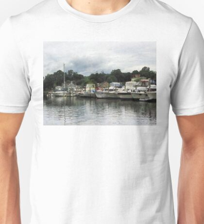 Boats On A Cloudy Day Essex CT Unisex T-Shirt