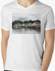 Boats On A Cloudy Day Essex CT Mens V-Neck T-Shirt