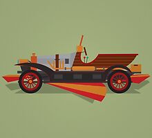 Chitty Chitty Bang Bang - Yellow by David Wildish