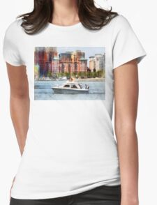Maryland - Cabin Cruiser by Baltimore Skyline Womens Fitted T-Shirt