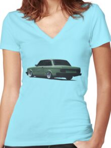 Volvo 242 Women's Fitted V-Neck T-Shirt