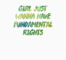 Girl wanna have fundamental rights Womens Fitted T-Shirt