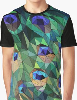 Peacock Feather Abstract Graphic T-Shirt