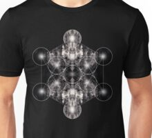 Metatron's Cube grey Unisex T-Shirt
