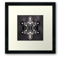 Metatron's Cube grey Framed Print