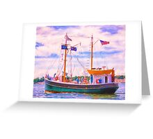 Aboard The Roann Greeting Card