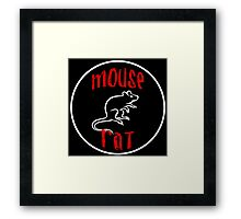 mouse rat, mouse, rat, parks, andy, recreation, tv, show, hipster, dwyer. Framed Print