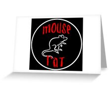 mouse rat, mouse, rat, parks, andy, recreation, tv, show, hipster, dwyer. Greeting Card