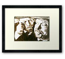 Vincent and Douglas Framed Print