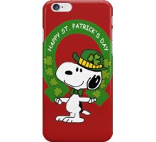 Snoopy Happy St Patricks Day iPhone Case/Skin