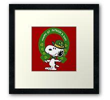 Snoopy Happy St Patricks Day Framed Print