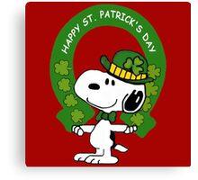 Snoopy Happy St Patricks Day Canvas Print