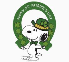 Snoopy Happy St Patricks Day Kids Tee