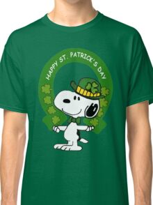 Snoopy Happy St Patricks Day Classic T-Shirt