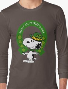 Snoopy Happy St Patricks Day Long Sleeve T-Shirt