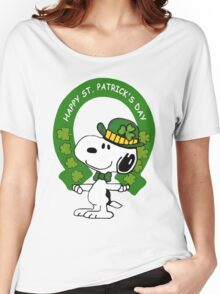 Snoopy Happy St Patricks Day Women's Relaxed Fit T-Shirt