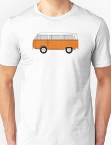 VW Type 2 Orange Unisex T-Shirt