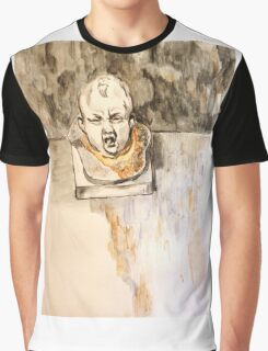Crying Baby Bust Graphic T-Shirt