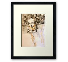 Crying Baby Bust Framed Print