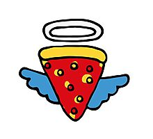 Pizza Is my Angel Photographic Print