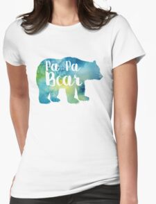 PAPA BEAR watercolor Womens Fitted T-Shirt