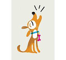 Fun barking dog Photographic Print
