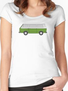VW T3 Green Women's Fitted Scoop T-Shirt
