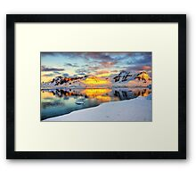 Antarctic Sunset Framed Print