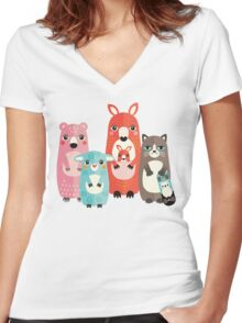 Best Friends Women's Fitted V-Neck T-Shirt