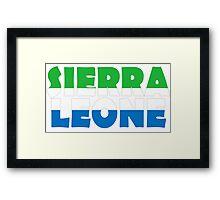 Sierra Leone Framed Print