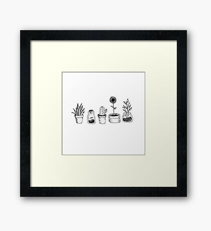 4 plants are better than 3 but then again 5 is better Framed Print