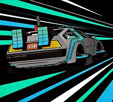 Delorean Time Flux - Blue by David Wildish