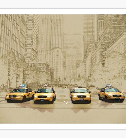 New York Taxi Sticker