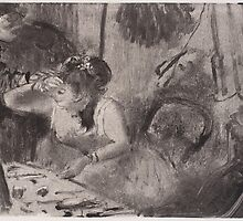 Edgar Degas - Intimacy (1877) by famousartworks